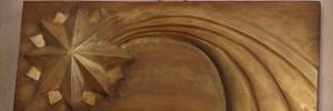 """scultura in legno """"stella cometa"""""""
