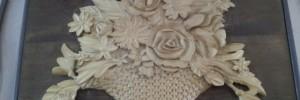 cestino fiori legno