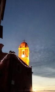 Tellaro campanile illuminato