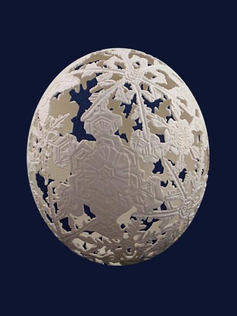 Uova e l'arte contemporanea dell'intaglio